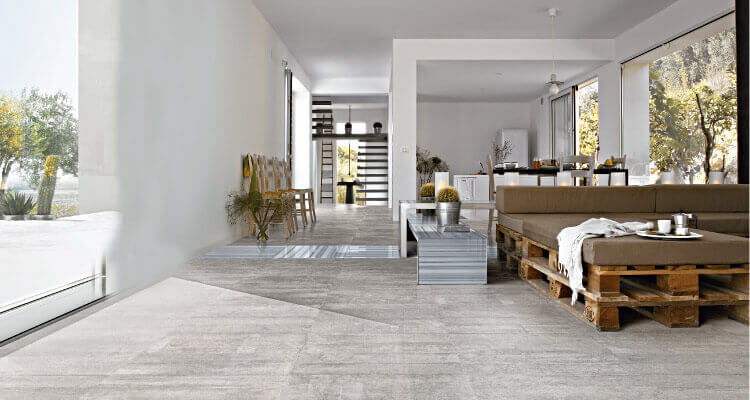 The stone look porcelain tiles are designed using cutting edge technology. The tiles look artistic and natural with the stone look. These tiles are made of porcelain with the stone pattern. This includes a versatile pattern that includes marble, slate, limestone etc.